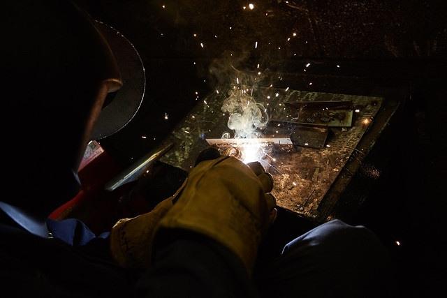 an individual welding