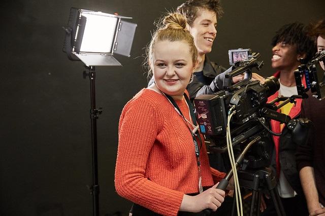 film studies students smiling