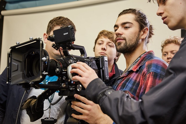several films studies students around camera