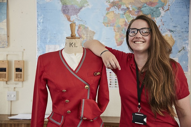 travel student stood next to a mannequin