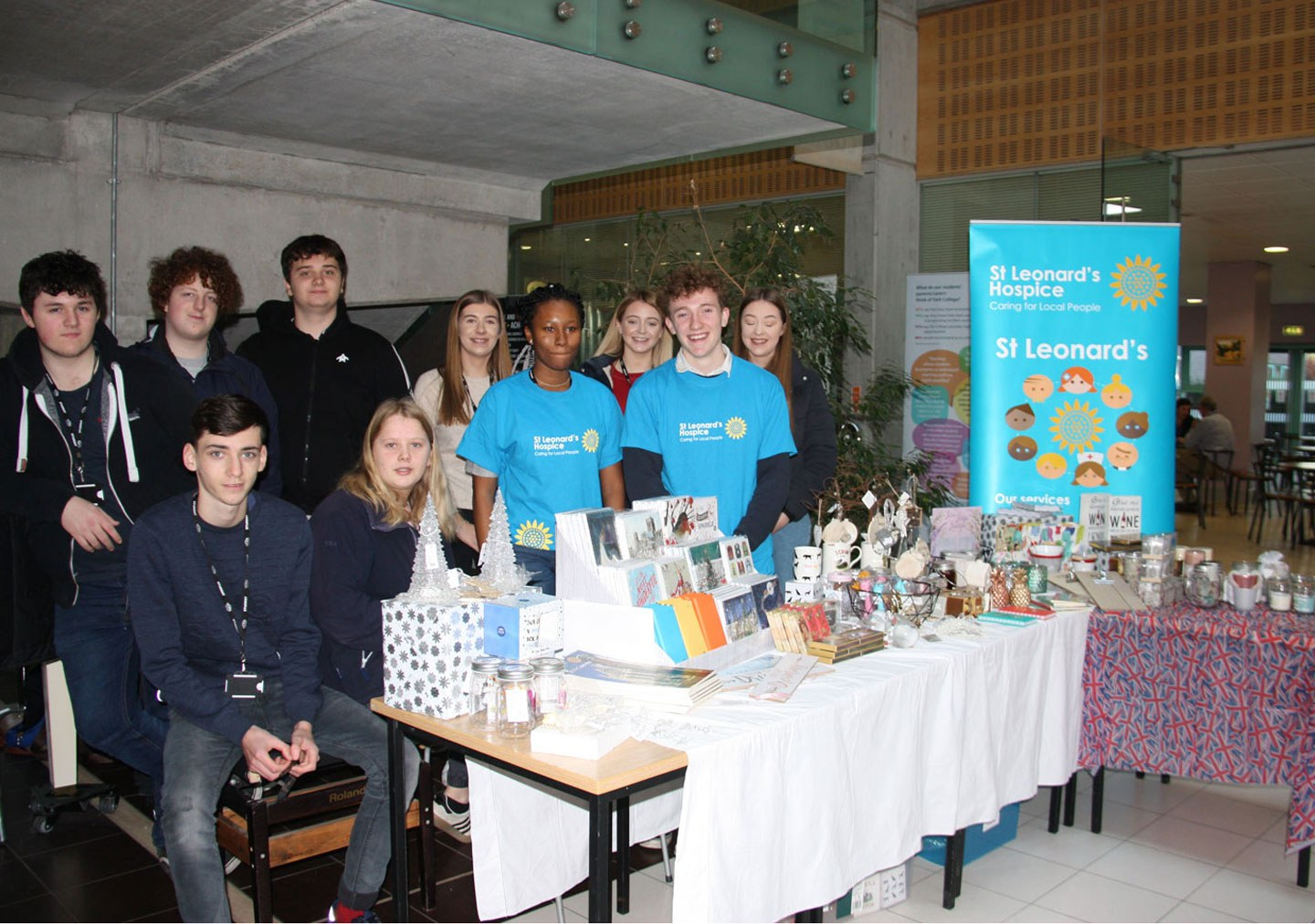 Business Diploma Level 2 students at a fundraising event they organised