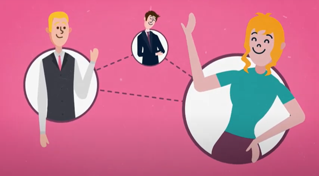 Business Parnerships screen grab video