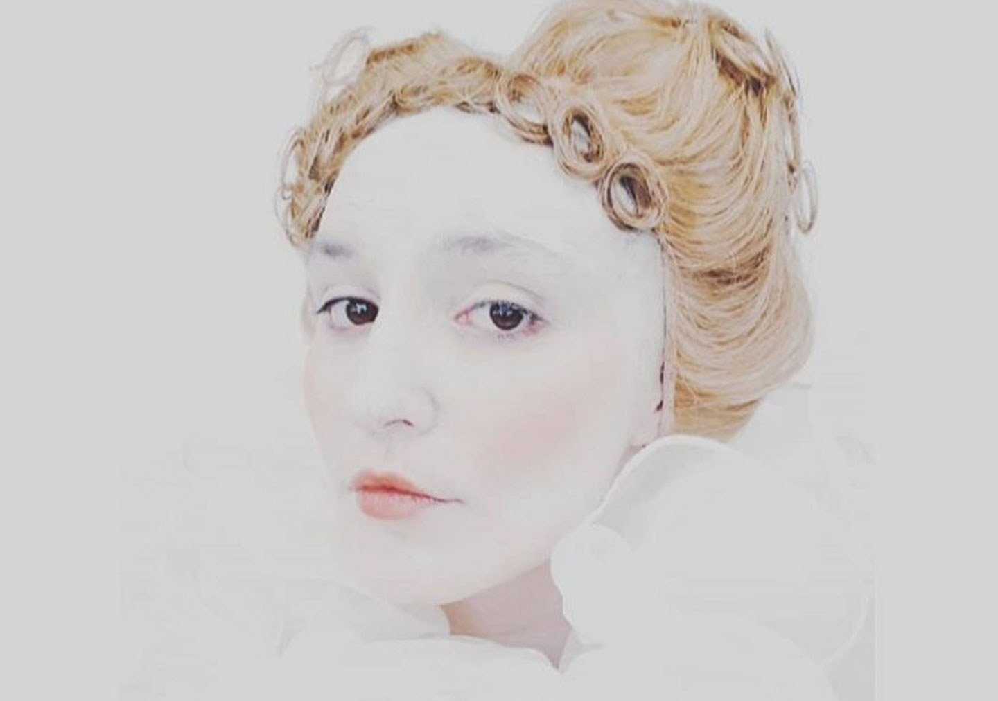 Elizabethan final project model in photo has been styled
