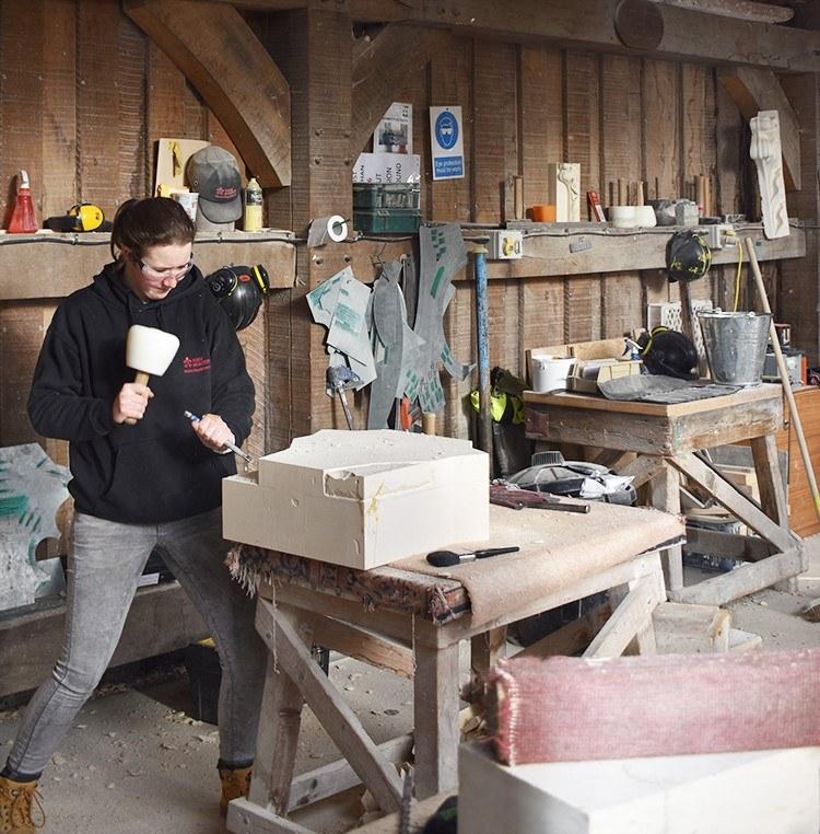 Emma Waitzman is a Stonemasonry Apprentice at York Minster