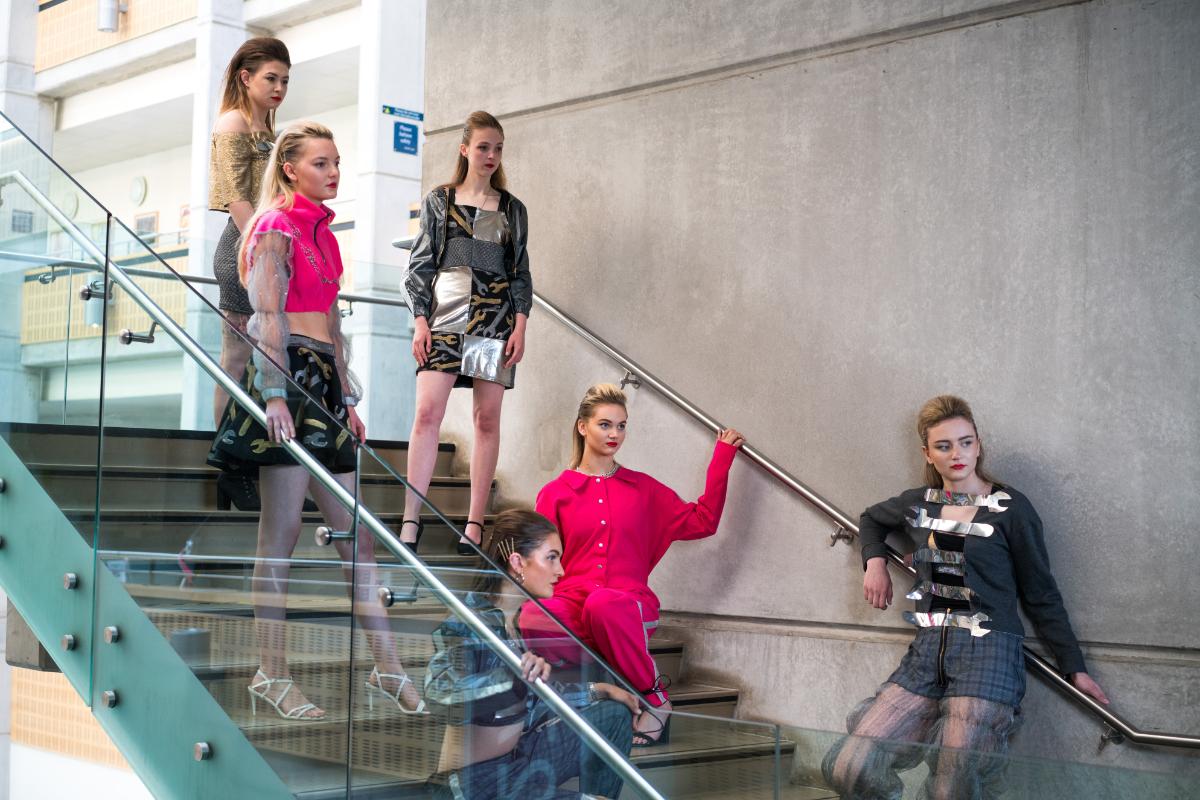 Fashion show 2021 degree student garments on models 2