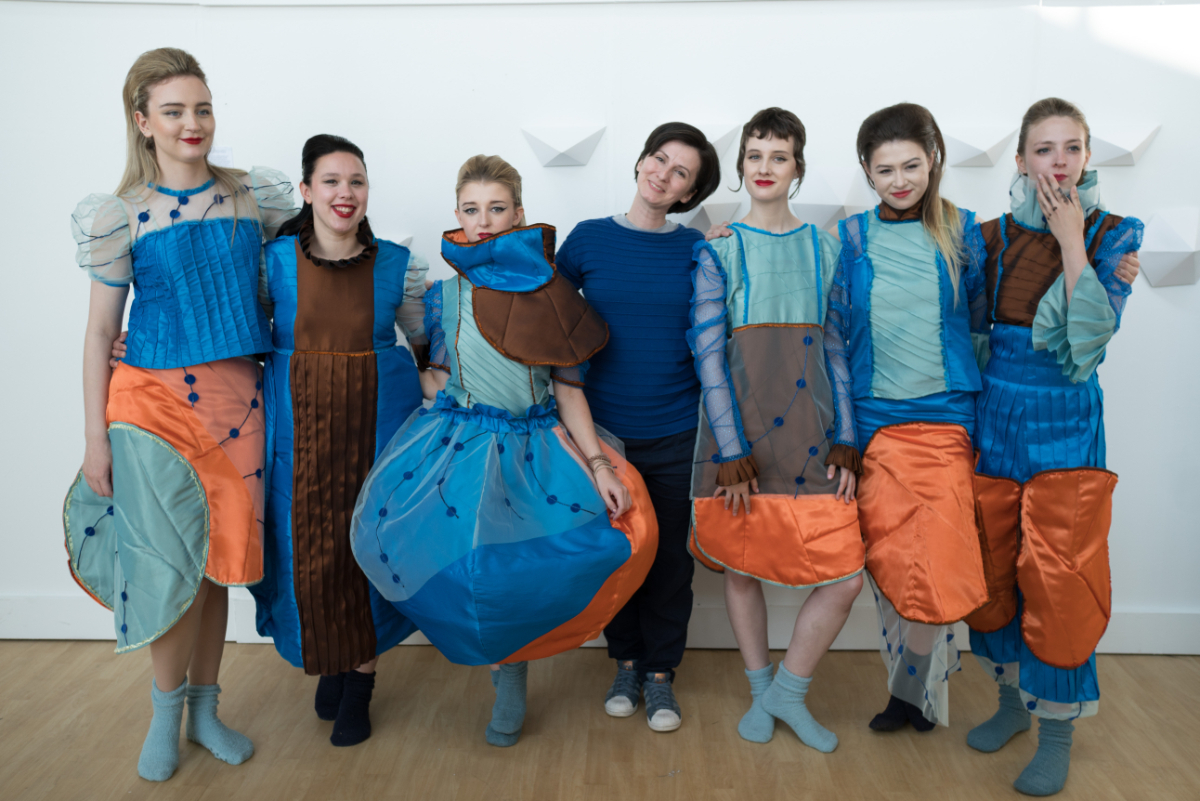 Fashion show 2021 degree student garments on models 3