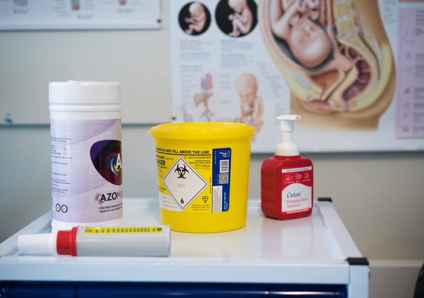 Health and saftey items in the Care Simulation Room