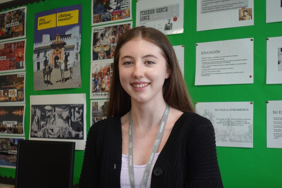 Iona A Level Spanish student