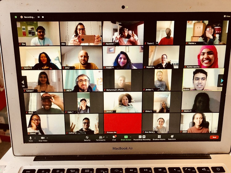 It All Adds Up Student Commission on Racial Justice screen grab of Microsoft Teams meeting