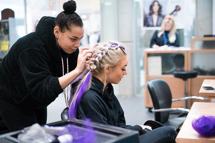 Karis Smith is a Hairdressing Apprentice at Shabby to Chic