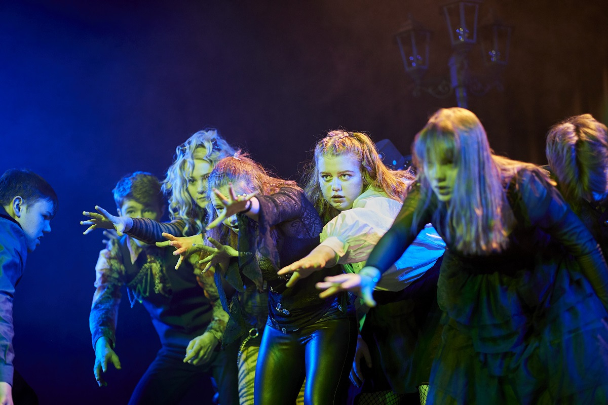 Musical Theatre students performing in the theatre