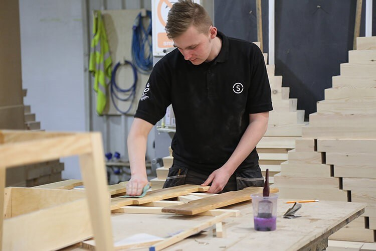 Photo Jack Davy Bench Joinery Apprentice at Stage One
