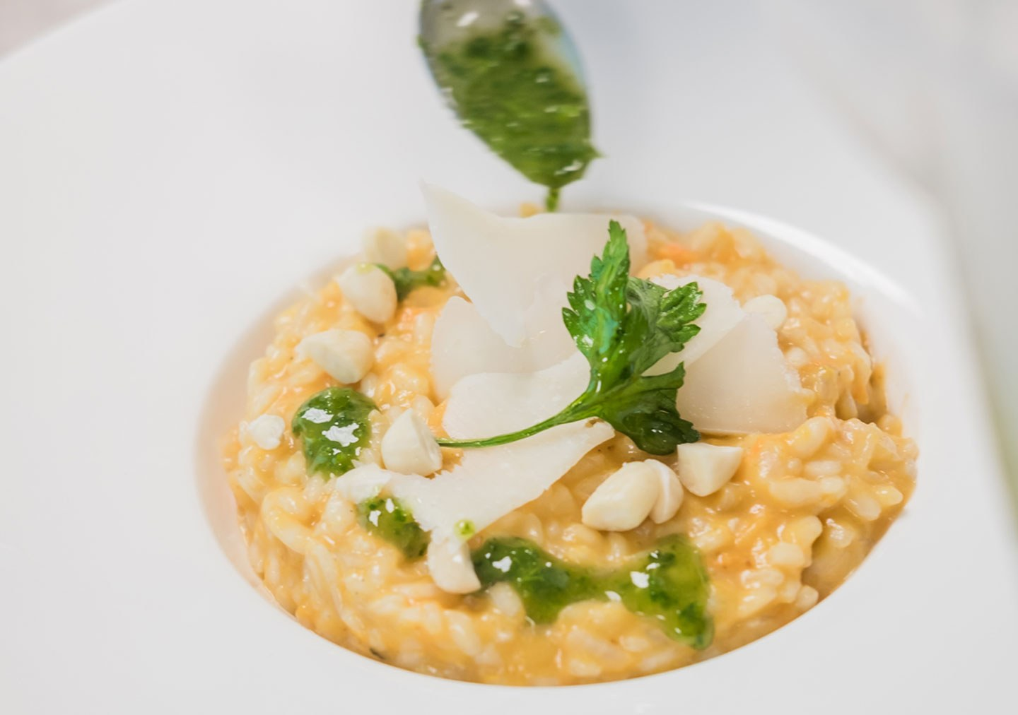 Risotto dish prepared by the students