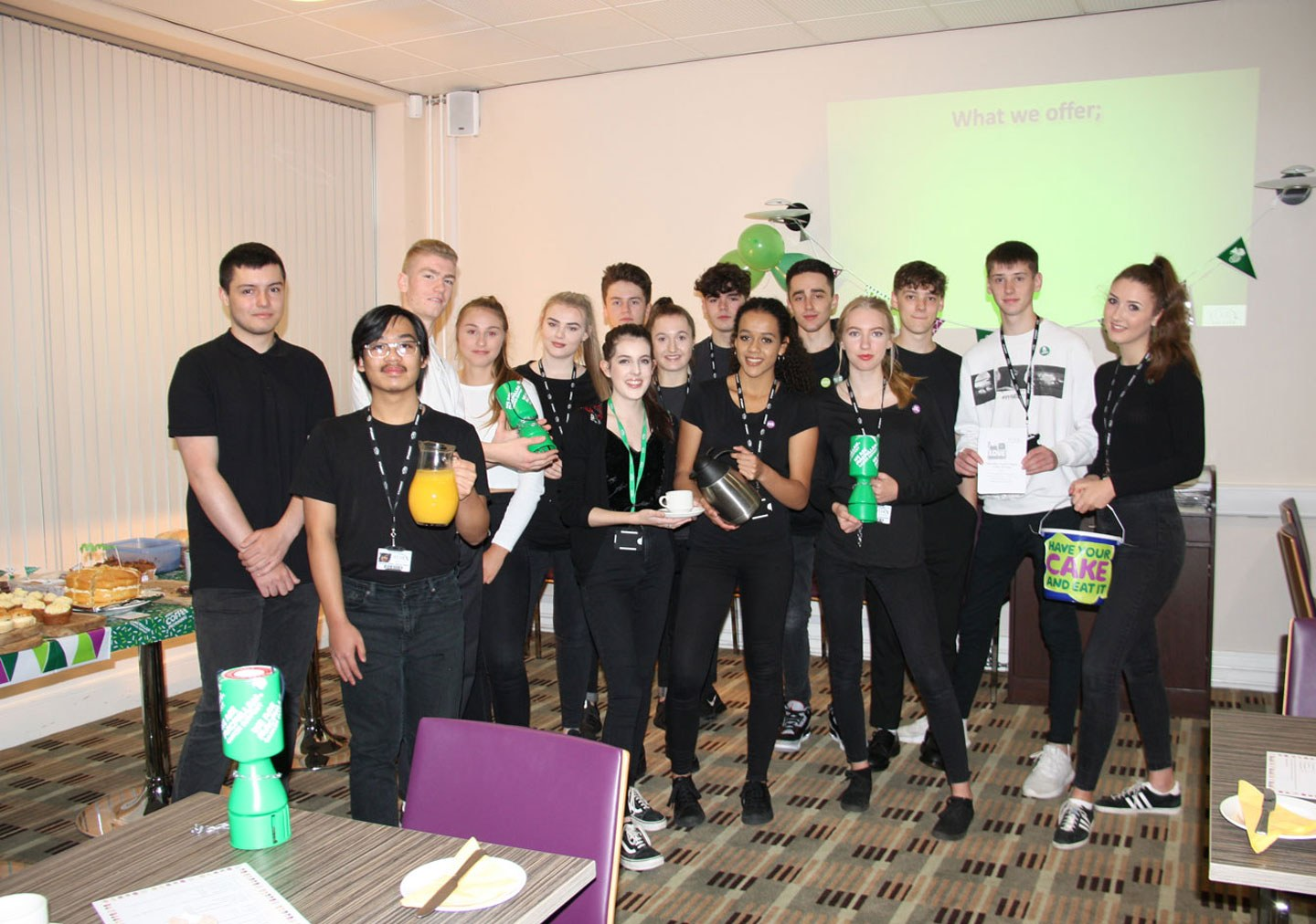 Skills for Business Diploma Level 3 students hosting a charity event