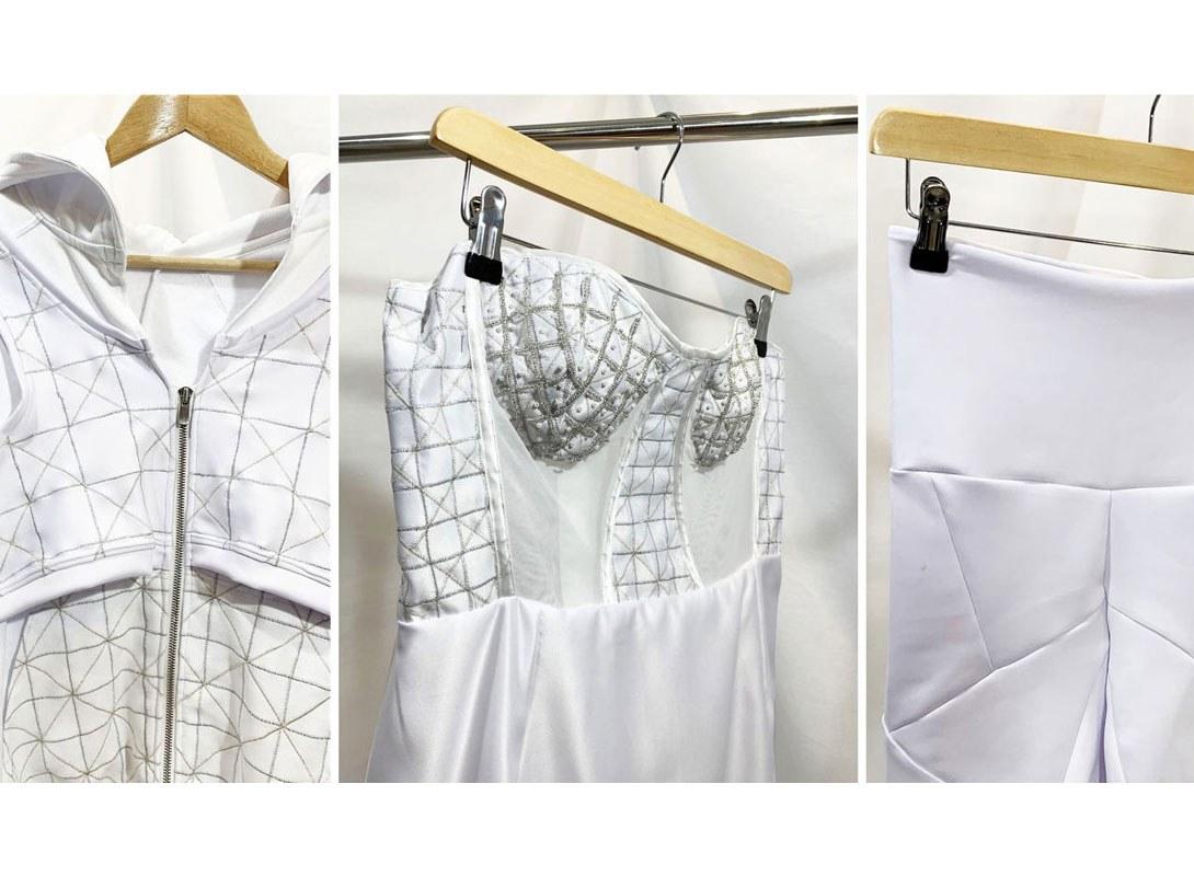 Stephanie case study photos garments she has created