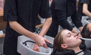 Students washing hair 2