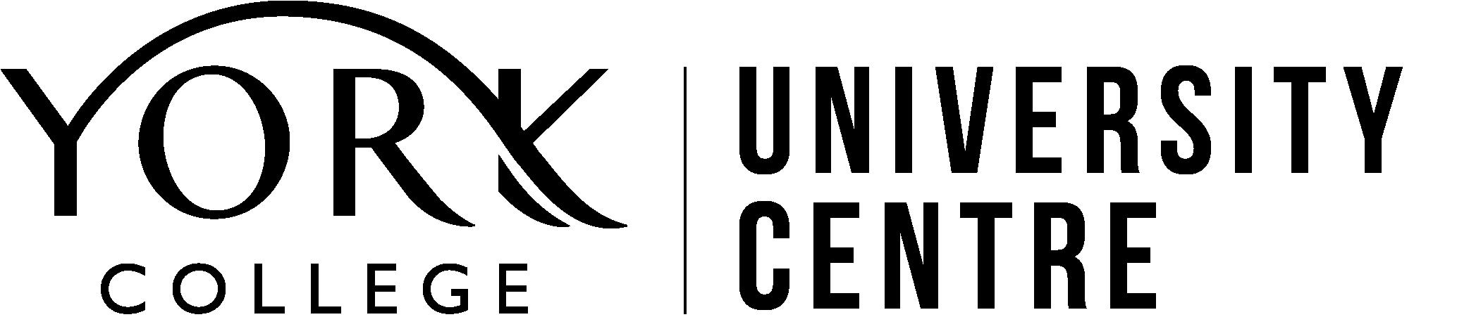 York College University Centre Logo Black