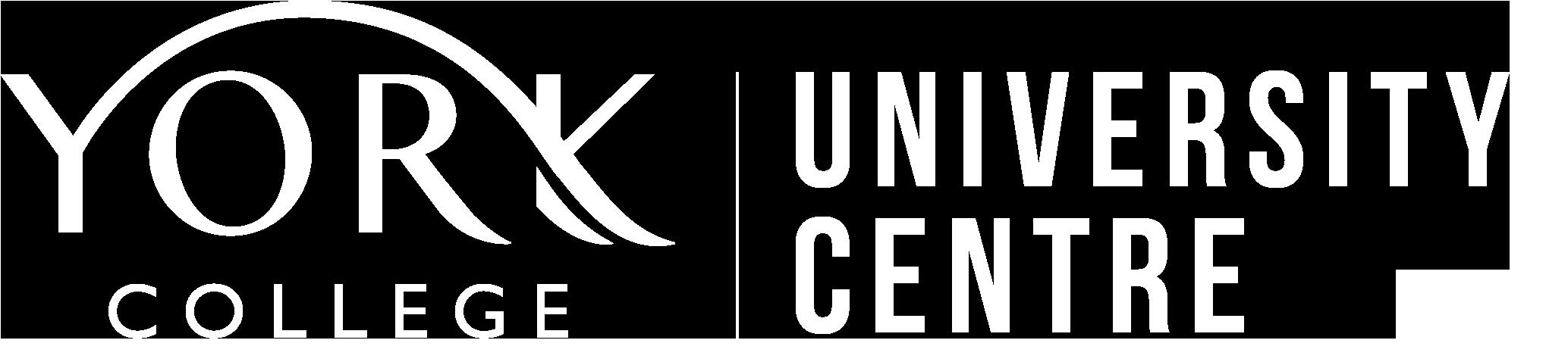 York College University Centre Logo White