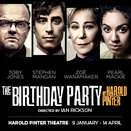Pearl Mackie will join Toby Jones, Stephen Mangan and Zoë Wanamaker in major revival of Harold Pinter's The Birthday Party
