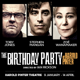 Toby Jones, Stephen Mangan and Zoë Wanamaker to star in Harold Pinter's The Birthday Party