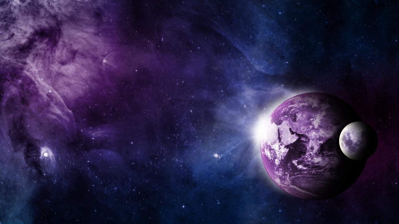 Earth moon  wallpaper