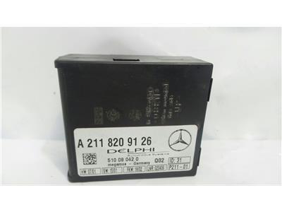 2008 Mercedes E Class 2002-09 2.2 Alarm ECU Anti-Theft A 211 820 91 26