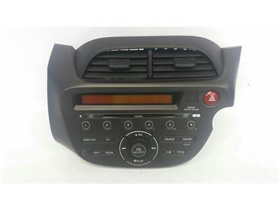 2011 Honda Jazz 2011 To 2015 Radio CD Player 39100-TF3-E600-XB