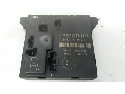 2008 Mercedes-Benz CLS Class C219 2005 To 2011 Door Module Rear RH 2198200326
