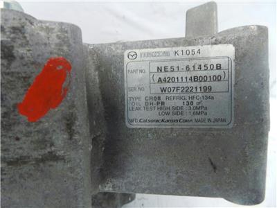 2008 Mazda MX5 2006 To 2009 1.8 Petrol L8-DE Air Con Pump Compressor NE51-61450B