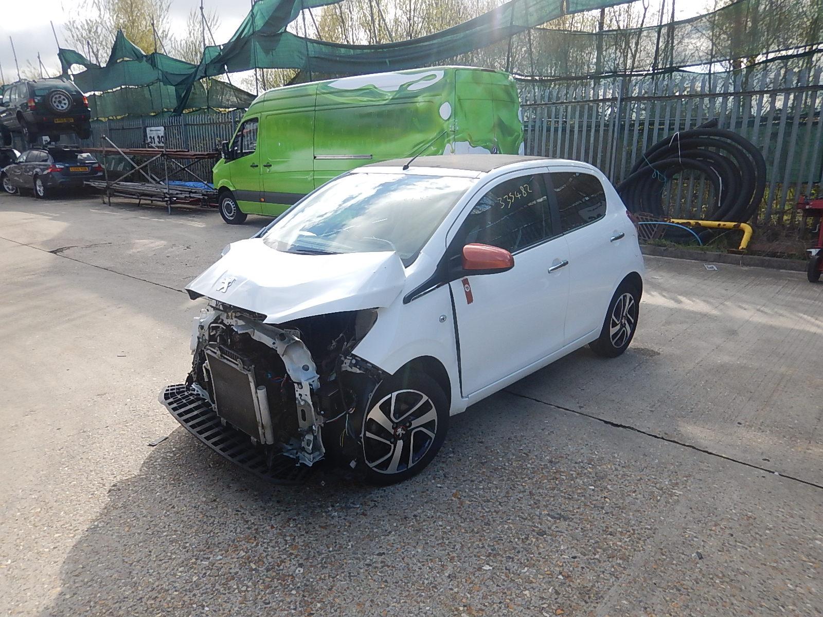 peugeot 108 2014 on top roland garros puretech 5 door hatchback scrap salvage car for sale. Black Bedroom Furniture Sets. Home Design Ideas