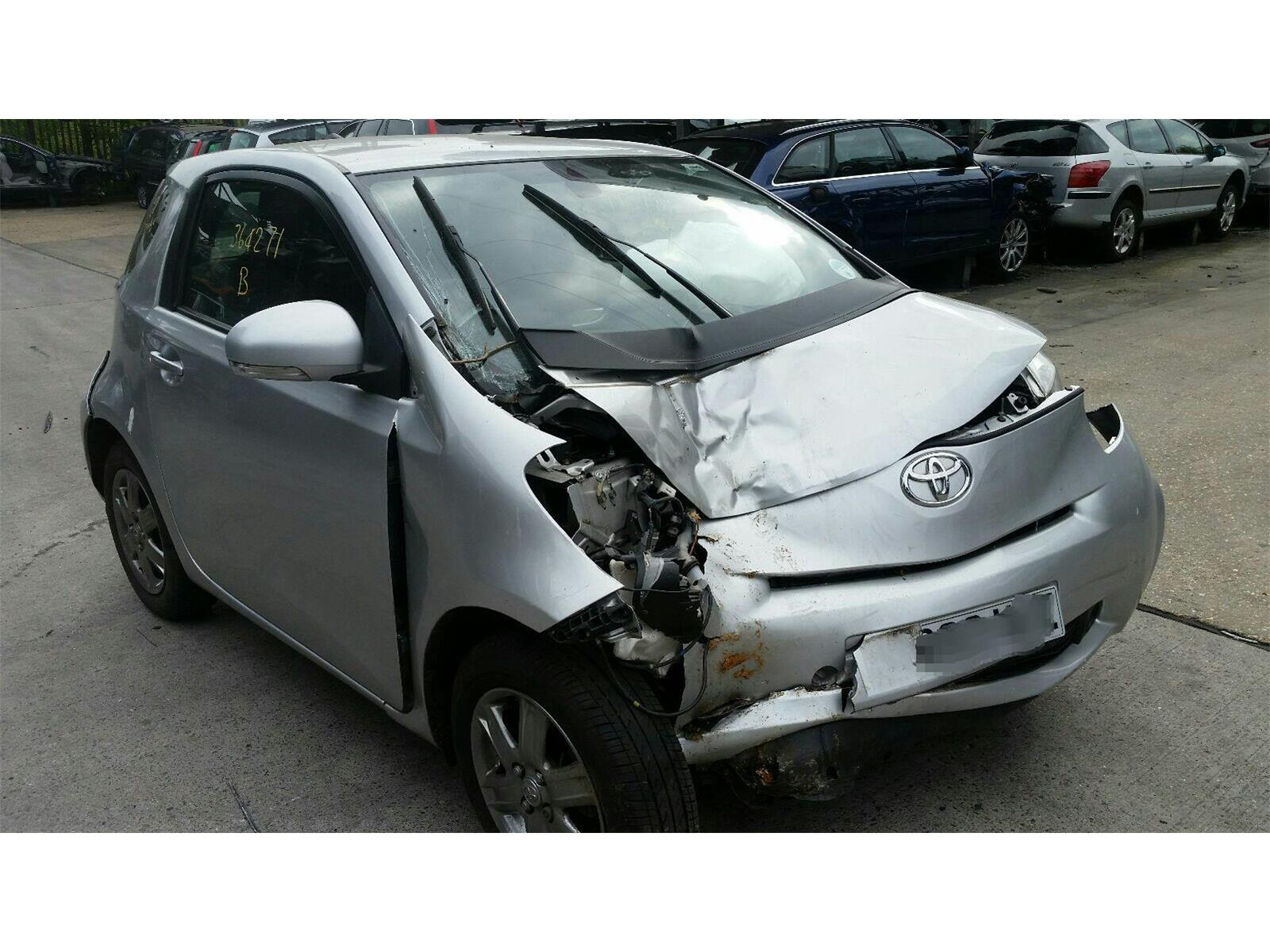 toyota iq 2009 on iq2 3 door hatchback scrap salvage car for sale auction silverlake. Black Bedroom Furniture Sets. Home Design Ideas