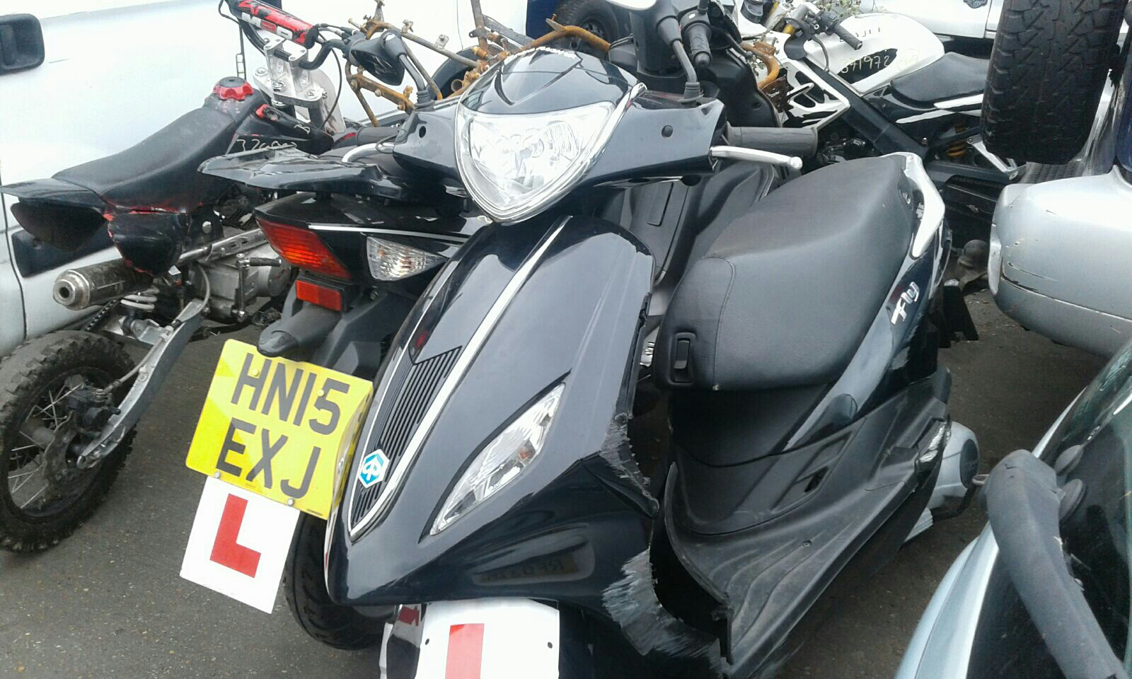 Piaggio Fly 1989 on Fly 125 Scooter / scrap / salvage car for sale ...