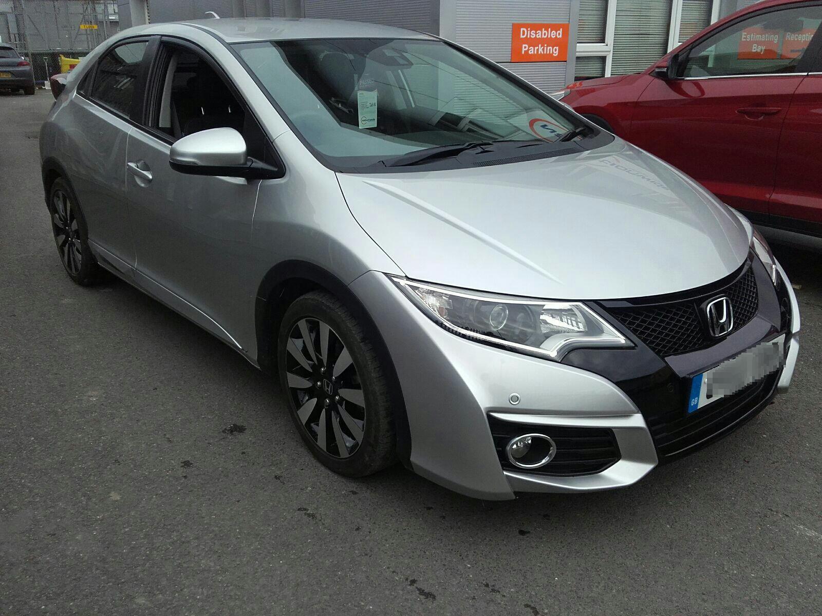 Honda Civic 2015 To 2017 SE Plus i-VTEC Seat Belt Rear Stalk LH