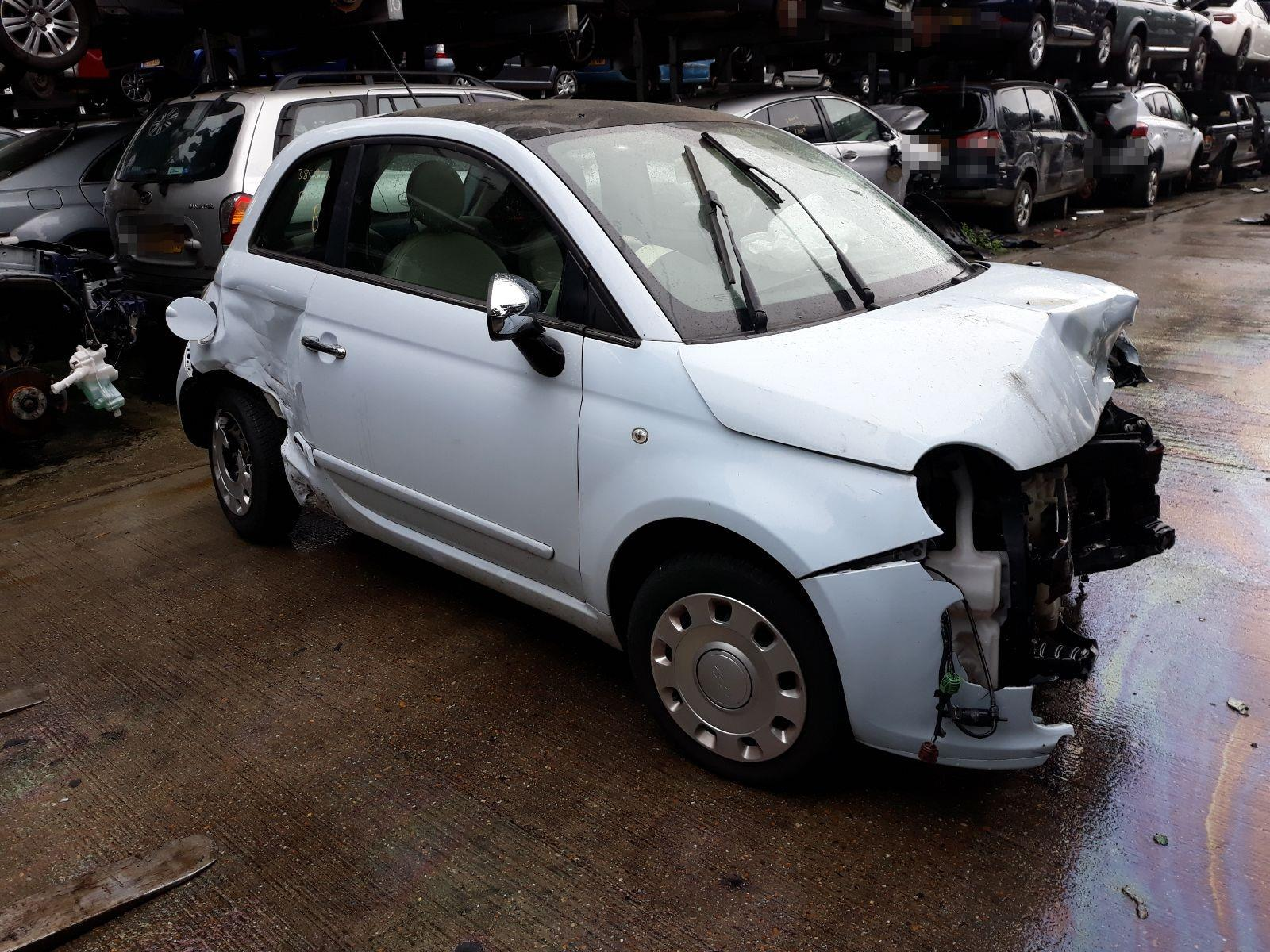 Fiat 500 2008 To 2015 Pop 3 Door Hatchback Scrap Salvage Car For Grande Punto Fuse Box Glove Compartment Sale Auction Silverlake Autoparts