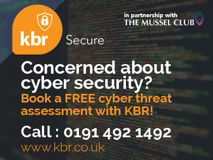 Concerned about cyber security? Book a FREE cyber threat assessment with KBR!  Call 0191 492 1492