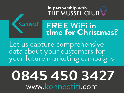FREE WiFi in time for Christmas? Let us capture comprehensive data about your customers for your future marketing campaigns.   Call 0845 450 3427.
