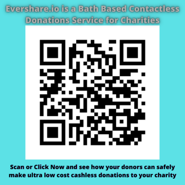 Evershare.io is a Bath Based  Contactless Donations Service for Charities that