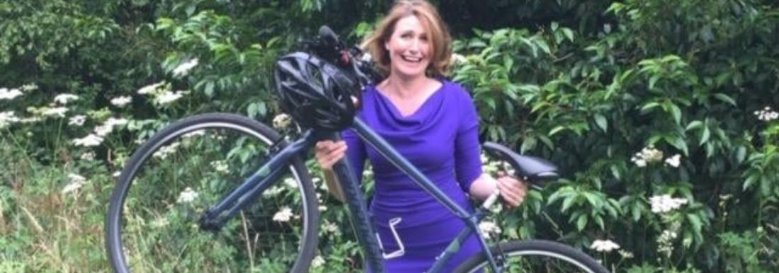 Converting Nerf gun goggles into cycling glasses - Sky News presenter Jayne Secker continues coast to coast preparations.