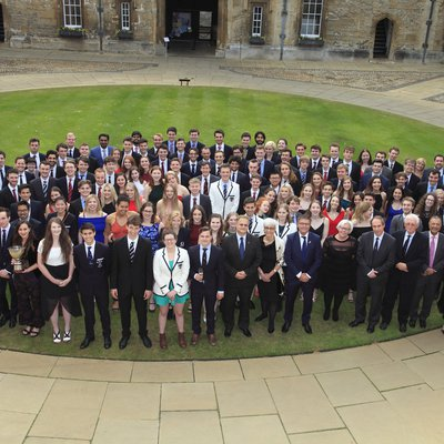 Group shot in Front Quad