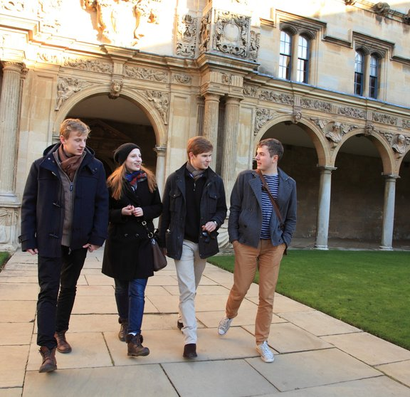 Students in Canterbury Quad