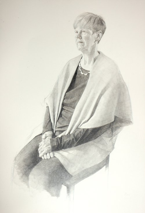 Professor Dorothy Bishop portrait by Benjamin Sullivan