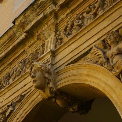 sculpture detail in Canterbury Quad