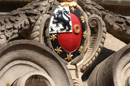 College Crest on Presidents Lodgings