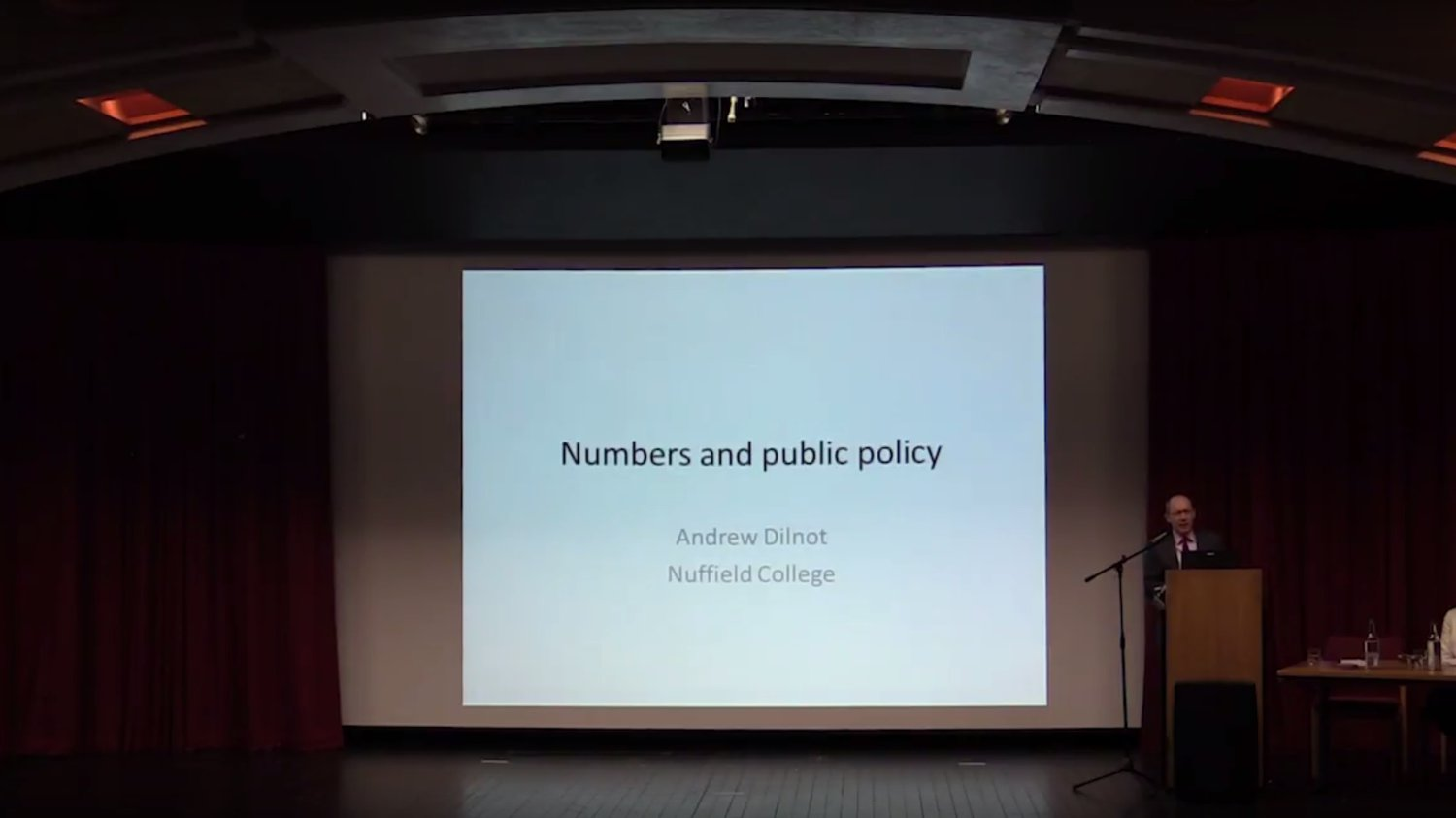 Sir Andrew Dilnot Founder's Lecture 2017