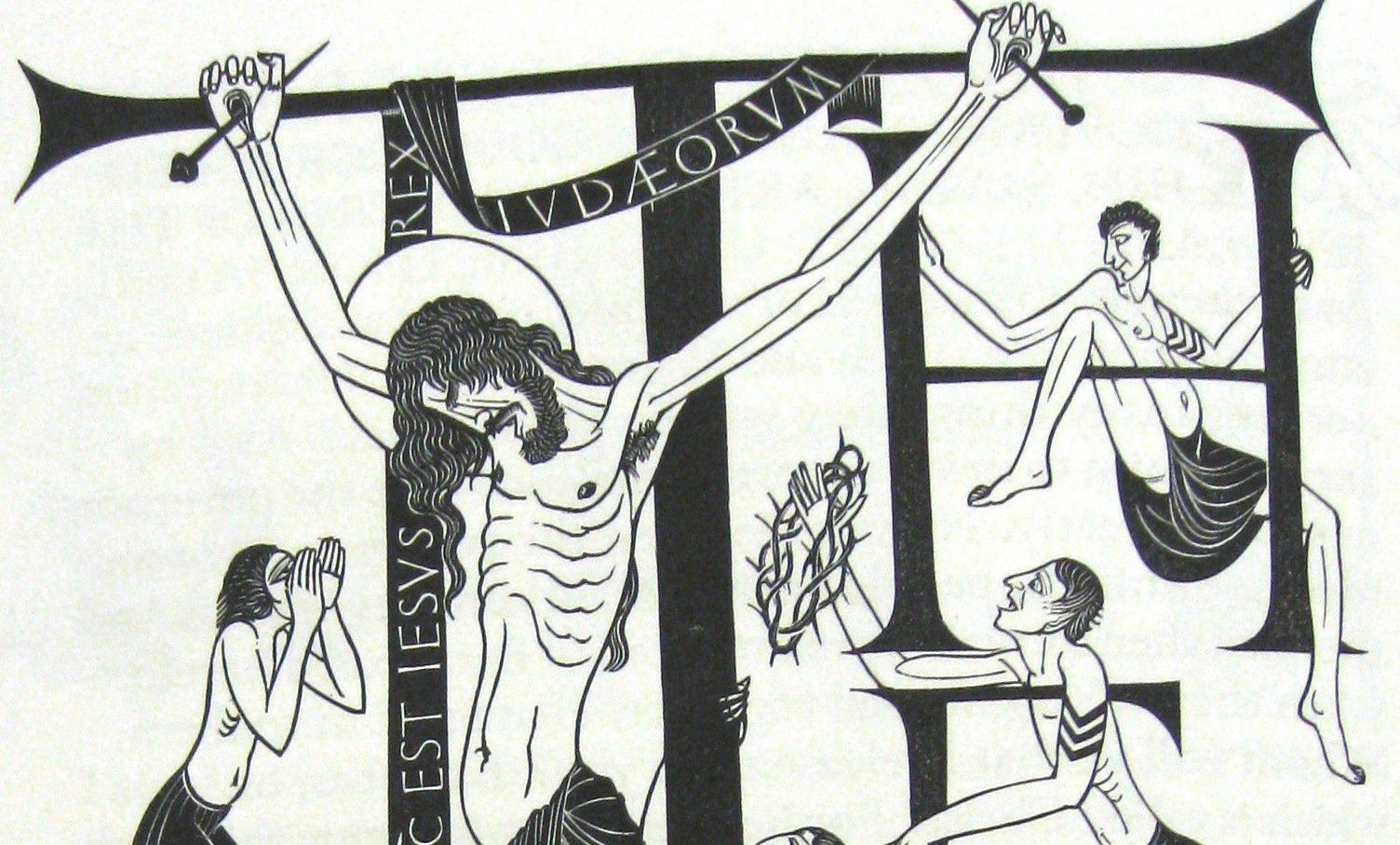 Crucifixion from Eric Gill's 'Four Gosapels'