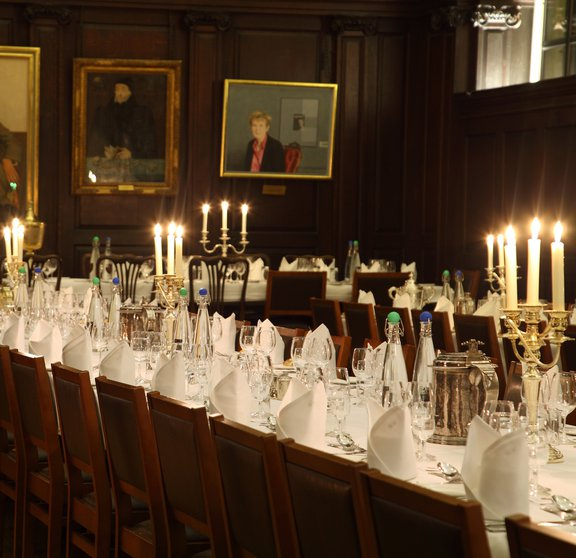 Conference dinner in hall