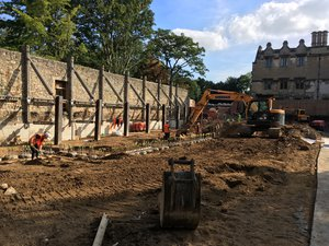 Work on the new Library & Study Centre