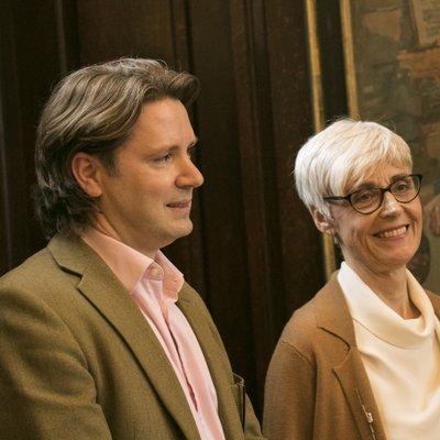 Benjamin Sullivan and Professor Maggie Snowling - President's Portrait Unveiling