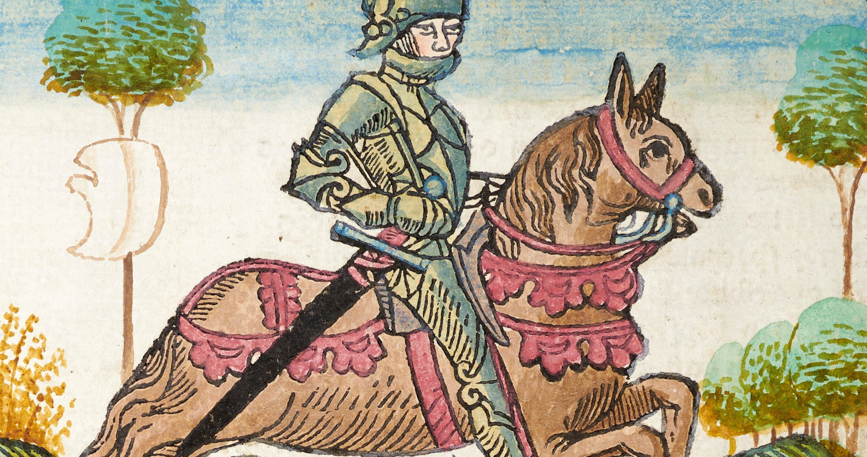 Caxton Chaucer Knight -  detail only