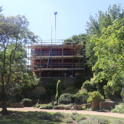 North end of Study Centre under construction July 2017